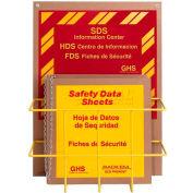 "Horizon Mfg. Tri Lingual Eco Friendly SDS Safety Center, 8665, 3""W Binder"