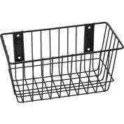 "Rack'em™ Mount Anywhere Wire Basket 12""W x 6""D x 6""H Black"