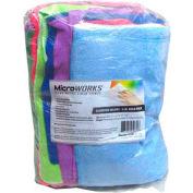 Microworks Microfiber Towels, Assorted 2lb. Bulk Bag - 2503-AC-BG