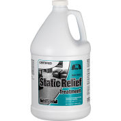 Nilodor Certified® Anti-Stat Static Relief, Unscented, Gallon Bottle, 4/Case