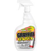 Nilodor Certified® Graffiti, Spray Paint, Oil & Water Based Émail Remover, Quart Bottle, 6/CS