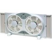 """Comfort Zone® CZ310R 9"""" ventilateur de fenêtre double réversible avec télécommande"""