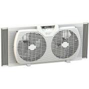 Comfort Zone® CZ319WT 9 pouces Portable double ventilateur de fenêtre, blanc