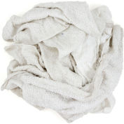 Reclaimed Terry Towel/Robe Rags, White, 10 Lbs. - 537-10