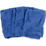 Reclaimed Surgical Huck Towels, 100% Cotton, Blue, 5 Lbs.- 539-05