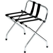 Chrome Finish Luggage Rack With Back - Pkg Qty 4