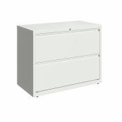 "Hirsh Industries® 36"" Wide 2-Drawer latérale File Cabinet - Blanc"