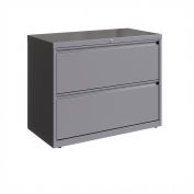 """Hirsh Industries® 36"""" Wide 2-Drawer Lateral File Cabinet - Arctic Silver"""