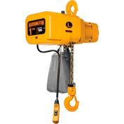 Palan électrique de Harrington NER NER010L-15 w / crochet Suspension - 1 tonnes, 15' Lift, 14 pi/min, 230V