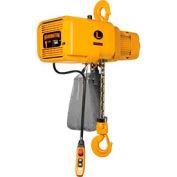 Harrington NER NER010SD-15 vitesse double chaîne électrique palan 1 tonne, 15' - Lift, 28/4,5 pi/min, 208V