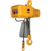 Harrington NER NER020SD-10 vitesse double chaîne électrique palan 2 tonne, 10' - Lift, 28/4,5 pi/min, 208V