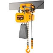 Harrington NERM005S-L-10 NER Electric Hoist w/ Motor Trolley - 1/2 Ton, 10' Lift, 29 ft/min, 208V