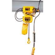Harrington SNERM010S-L-20 SNER Electric Hoist w/ Motor Trolley - 1 Ton, 20' Lift, 14 ft/min, 230V