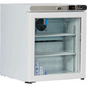 Abs Autoportant Undercounter Controlled Room Temperature Cabinet, Left Hinged Glass Door, 1 Cu.Ft.