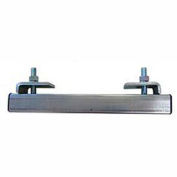"""Hubbell End Stop W/ S Beam Support, 6-1/2""""L x 5""""W, Gray"""