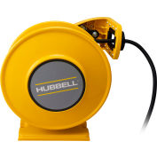 Hubbell ACA14325-SR15 Industrial Duty Cord Reel with Single Outlet - 14/3c x 25', 15A, Aluminum