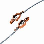 Hubbell GCSI-AA-03 deux pinces w / 3 pi 7 X 19 câble Flex échoué. Câble d'acier