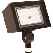 Hubbell Outdoor Ratio LED Floodlight, 3200L, 26W, 50K, Wide Dist, Knuckle Mt, 120-277v
