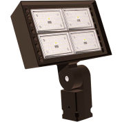 Hubbell Outdoor Ratio LED Floodlight, 14000L, 124W, 50K, Wide Dist, Knuckle Mt, 120-277v
