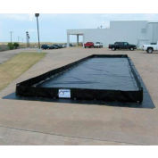 Husky Portable Patriot Angle Berm 30 oz. Vinyl, 10' x 10', Black, P-10101v30-BK