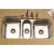 Houzer MGT-4120-1 Undermount Stainless Steel Triple Bowl Kitchen Sink