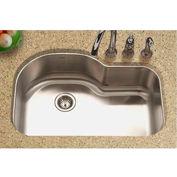 Houzer MH-3200-1 Undermount Stainless Steel Offset Single Bowl Kitchen Sink