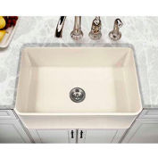 "Houzer PTS-4100 BQ 30"" Apron Front Fireclay Single Bowl Kitchen Sink-Biscuit"