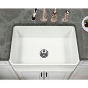 "Houzer PTS-4100 WH 30"" Apron Front Fireclay Single Bowl Kitchen Sink, White"