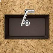 Houzer V-100U MOCHA Granite Undermount Large Single Bowl Kitchen Sink, Mocha