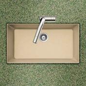 Houzer V-100U SAND Granite Undermount Large Single Bowl Kitchen Sink, Sand