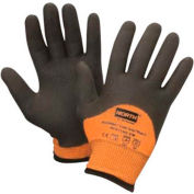 North® Flex Cold Grip Plus 5™ Cut Resistant Gloves, Hi-Vis Orange/Black, Size L, 1 Pair