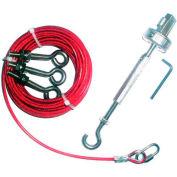 IDEM 140002 corde Kit galvanisé à chaud, 10M, galvanisé, qté par paquet : 7