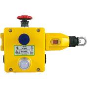IDEM 141006B GLHL corde Pull Switch W/E s'arrête/LED, 4NC 2NO, 110/120, 1/2NPT, Die Cast