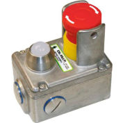 IDEM 232024-B ESL-SS(LP) E-Stop Switch W/LED, 2NC 2NO, 110v, SS