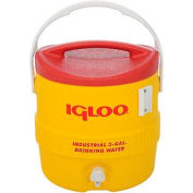 Igloo 431 - Beverage Cooler, Insulated, Yellow / Red, 3 Gallons