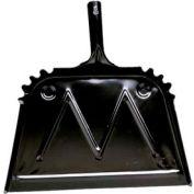 "Impact® Metal Dust Pan - 16"", Black, 4216 - Pkg Qty 12"