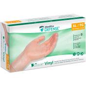 MedPro Defense® Vinyl Medical Examination Gloves, Powder-Free, Clear, 150/Box, X-Large