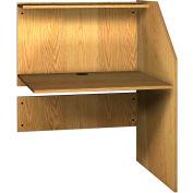 "Ironwood Study Carrel Adder, 36-5/8""W x 30""D x 47-7/8""H, Natural Oak"