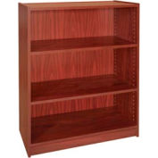 "42"" Adjustable Bookcase - 36""W x 11-7/8""D x 41-7/8""H Mahogany"
