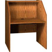 """Ironwood Study Carrel Base, 37-3/8""""W x 30""""D x 47-7/8""""H, Medium Oak"""