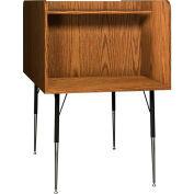 "Ironwood Back-to-Back Study Carrel, 35-5/8""W x 58-3/8""D x 52-3/8""H, Medium Oak"