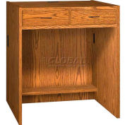 "39"" Two-Drawer Unit - 36""W x 30-1/8""D x 39-1/4""H Medium Oak"