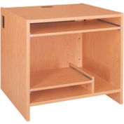 """Tower Work Station - 36""""W x 30-1/8""""D x 32-1/8""""H Amber Ash"""