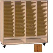 Ironwood Mfg. FS Series - 100 Open Folio Music Storage Cabinet - Dixie oak