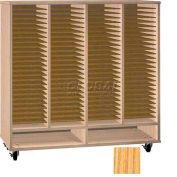 Ironwood Mfg. FS Series - 100 Open Folio Music Storage Cabinet - Natural Oak