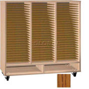 Ironwood Mfg. FS Series - 75 Open Folio Music Storage Cabinet - Dixie oak