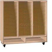 Ironwood Mfg. FS Series - 75 Open Folio Music Storage Cabinet - Maple