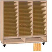 Ironwood Mfg. FS Series - 75 Open Folio Music Storage Cabinet - Natural Oak