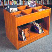 """Book Browser - 37""""W x 23-7/8""""D x 30""""H Oiled Cherry"""
