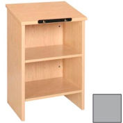 """Dictionary Stand - 23-3/8""""W x 16""""D x 42-1/8""""H Gray"""